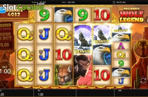 Skjerm5. Wolf Legend Megaways (Video Slot fra Blueprint)
