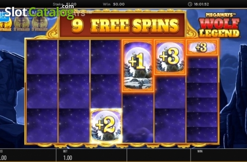 Skjerm6. Wolf Legend Megaways (Video Slot fra Blueprint)