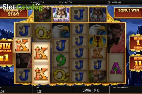 Skjerm9. Wolf Legend Megaways (Video Slot fra Blueprint)