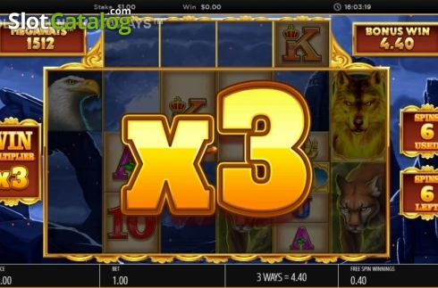 Skjerm10. Wolf Legend Megaways (Video Slot fra Blueprint)