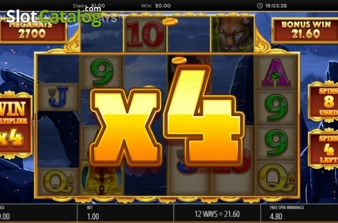 Skjerm11. Wolf Legend Megaways (Video Slot fra Blueprint)