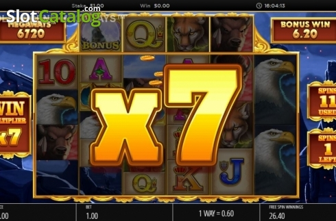 Skjerm12. Wolf Legend Megaways (Video Slot fra Blueprint)