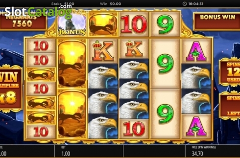 Skjerm13. Wolf Legend Megaways (Video Slot fra Blueprint)