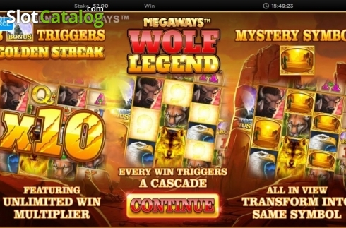 Skjerm2. Wolf Legend Megaways (Video Slot fra Blueprint)