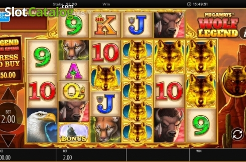Skjerm3. Wolf Legend Megaways (Video Slot fra Blueprint)