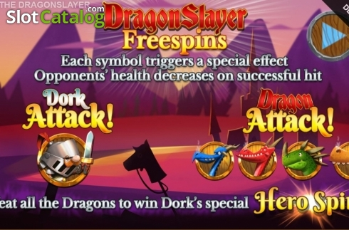 Free Spins 2. Dork the Dragon Slayer (Video Slots from Blueprint)