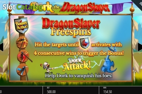 Features 1. Dork the Dragon Slayer (Video Slots from Blueprint)
