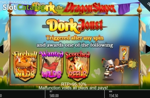 Features 2. Dork the Dragon Slayer (Video Slots from Blueprint)
