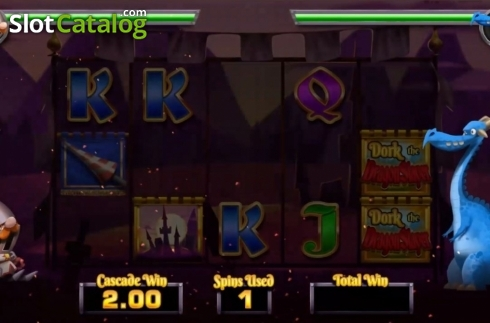 Game Screen 3. Dork the Dragon Slayer (Video Slots from Blueprint)