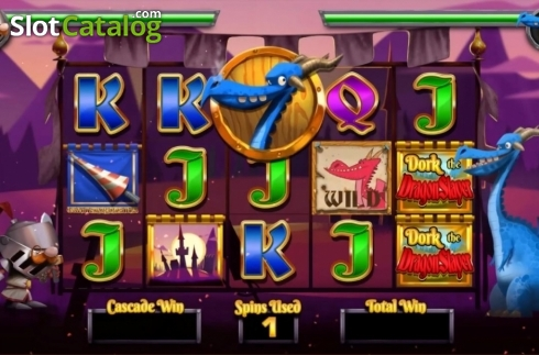 Game Screen 4. Dork the Dragon Slayer (Video Slots from Blueprint)