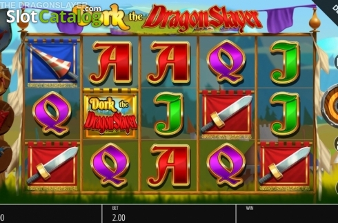 Reel Screen. Dork the Dragon Slayer (Video Slots from Blueprint)