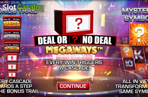 Start Screen. Deal or No Deal Megaways (Video Slot from Blueprint)
