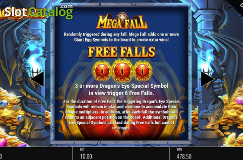 Features 2. Dragon Fall (Video Slot from Blueprint)