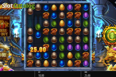 Win Screen. Dragon Fall (Video Slot from Blueprint)