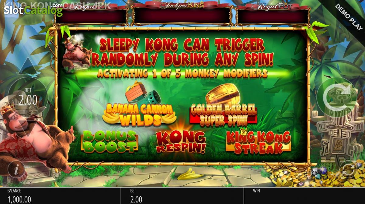 King Kong Cash Jackpot King Reseña De Tragamonedas Online Y Juego Demo Gratis