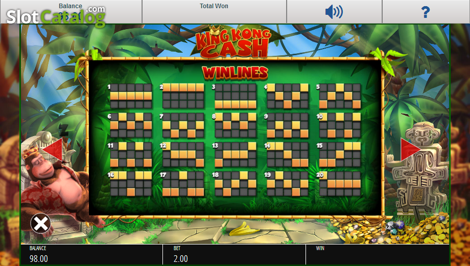 Review of king kong cash video slot from blueprint slotcatalog paytable 4 malvernweather Image collections