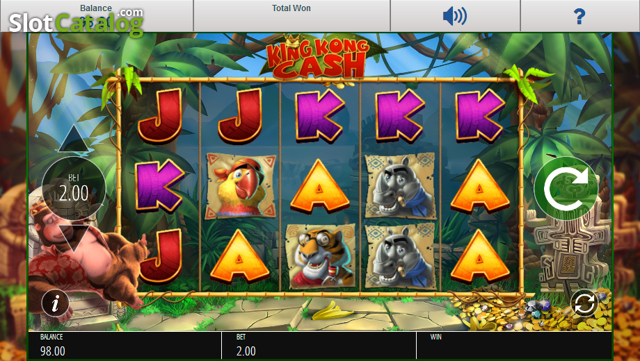 Review of king kong cash video slot from blueprint slotcatalog screen 2 malvernweather Images