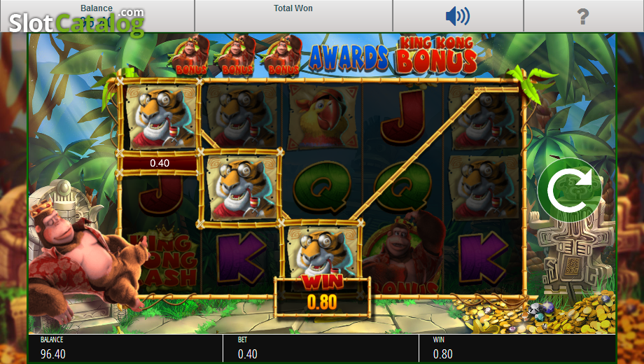 Review of king kong cash video slot from blueprint slotcatalog screen 3 malvernweather Image collections