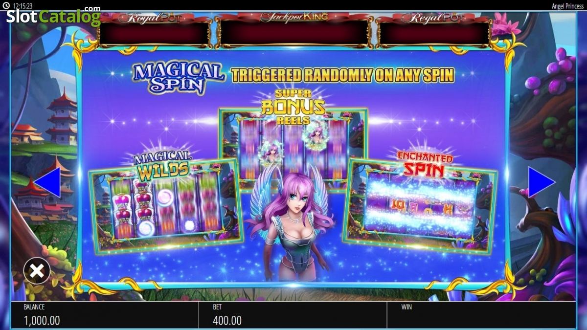 Review of angel princess video slot from blueprint slotcatalog paytable 2 malvernweather Images