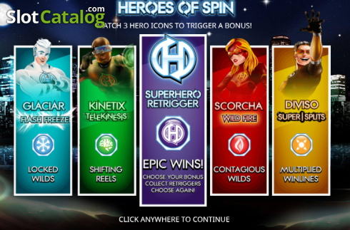 Review of heroes of spin video slot from blueprint slotcatalog heroes of spin video slot from blueprint malvernweather Gallery