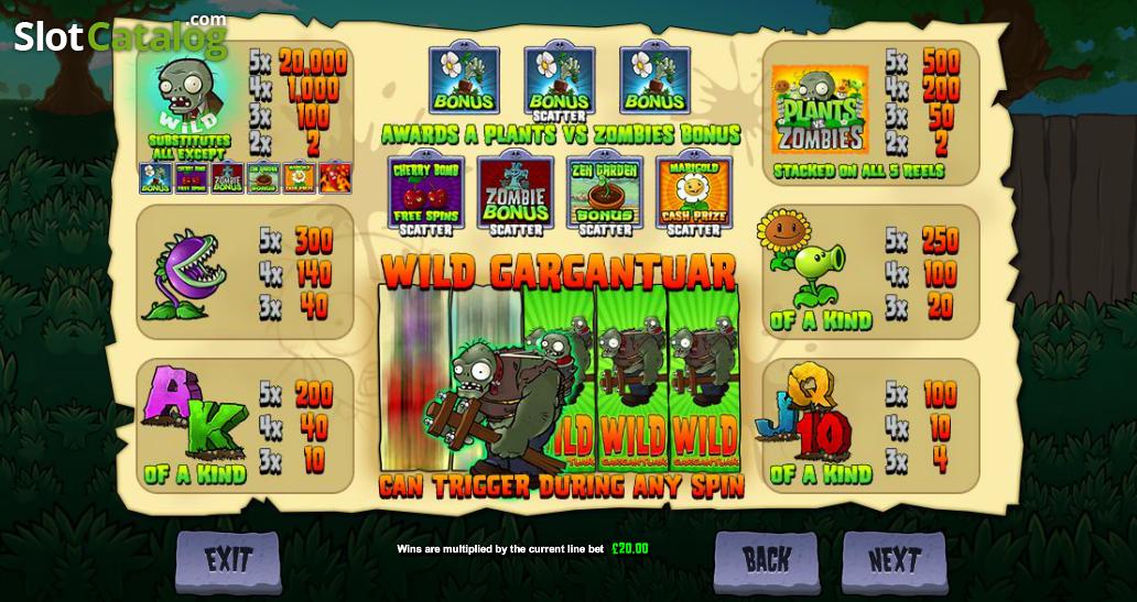 Revisin de plants vs zombies wild gargantuar ranura de video de plants vs zombies wild gargantuar ranura de video de blueprint malvernweather Image collections