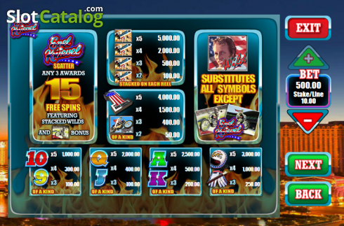 Screen2. Evel Knievel (Video Slot from Blueprint)