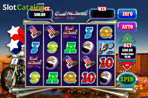 Screen6. Evel Knievel (Video Slot from Blueprint)