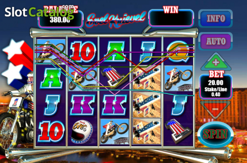 Screen7. Evel Knievel (Video Slot from Blueprint)
