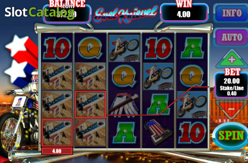 Screen8. Evel Knievel (Video Slot from Blueprint)