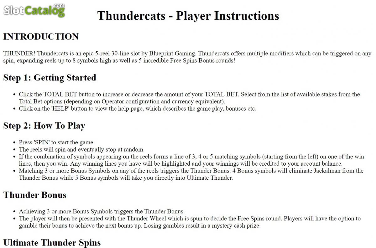 Revisin de thundercats ranura de video de blueprint slotcatalog thundercats ranura de video de blueprint malvernweather Images