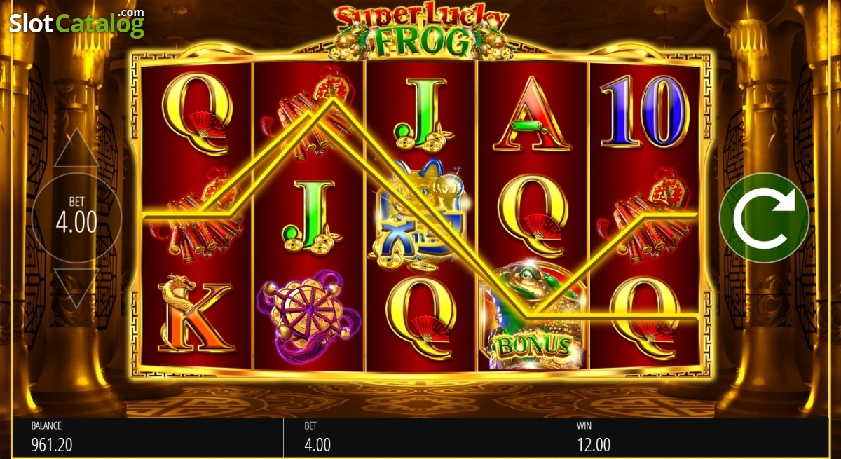 Review of super lucky frog blueprint video slot from blueprint win screen 2 malvernweather Choice Image