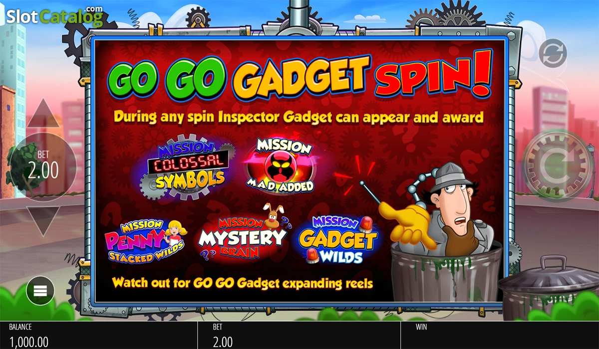Review of inspector gadget video slot from blueprint slotcatalog intro screen inspector gadget video slot from blueprint malvernweather Images