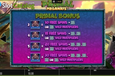 Free Spins 1. Primal MegaWays (Video Slots from Blueprint)