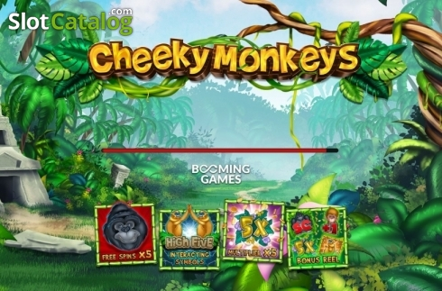 Start Screen. Cheeky Monkeys (Video Slot from Booming Games)