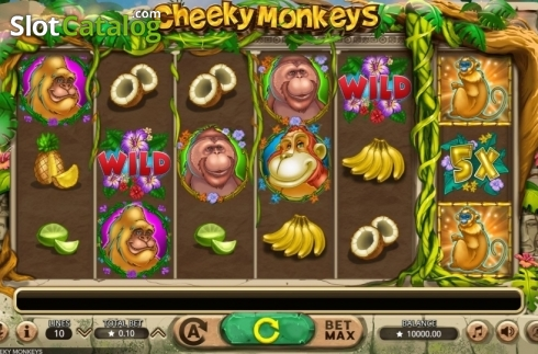 Reel Screen. Cheeky Monkeys (Video Slot from Booming Games)