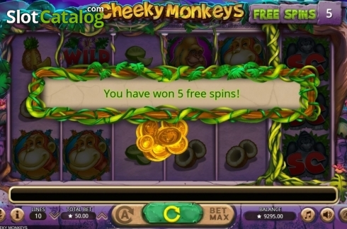 Free Spins. Cheeky Monkeys (Video Slot from Booming Games)