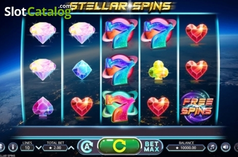 Reel Screen. Stellar Spins (Video Slots from Booming Games)