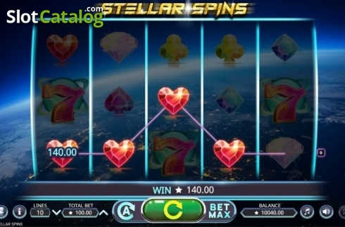Win Screen. Stellar Spins (Video Slots from Booming Games)