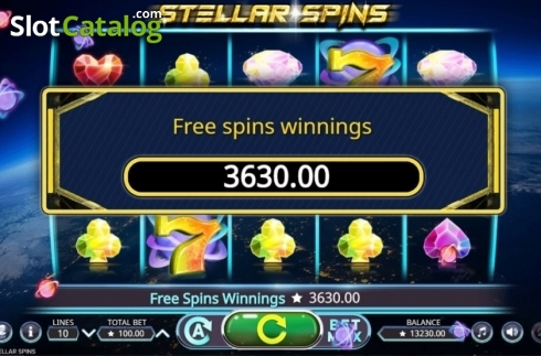 Free Spins Win. Stellar Spins (Video Slots from Booming Games)