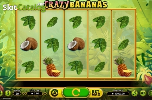 Reel Screen. Crazy Bananas (Video Slot from Booming Games)