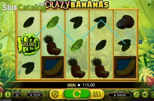 Win screen. Crazy Bananas (Video Slot from Booming Games)