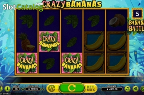 Bonus Game Triggered. Crazy Bananas (Video Slot from Booming Games)