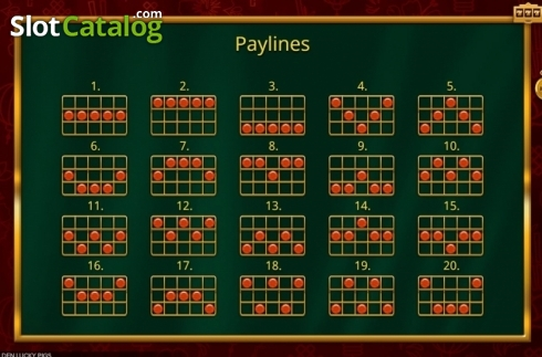Paylines. Golden Lucky Pigs (Video Slot from Booming Games)