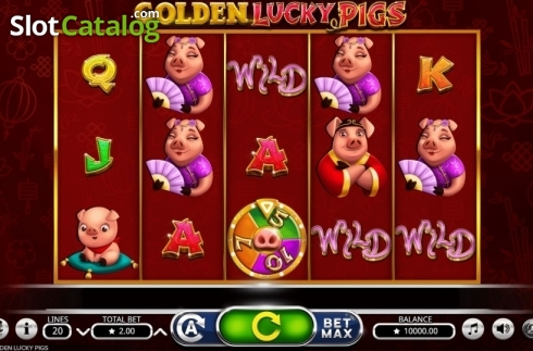Reel Screen. Golden Lucky Pigs (Video Slot from Booming Games)