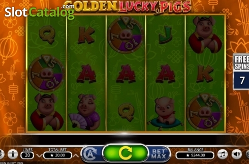 Free Spins. Golden Lucky Pigs (Video Slot from Booming Games)