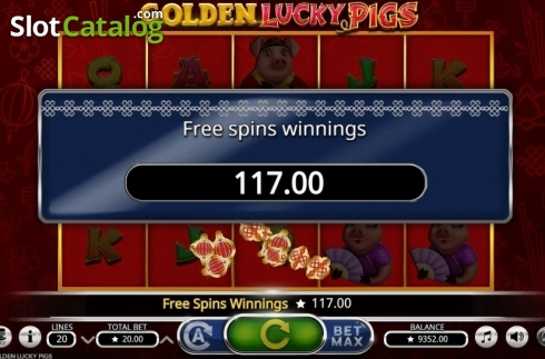 Total Win. Golden Lucky Pigs (Video Slot from Booming Games)