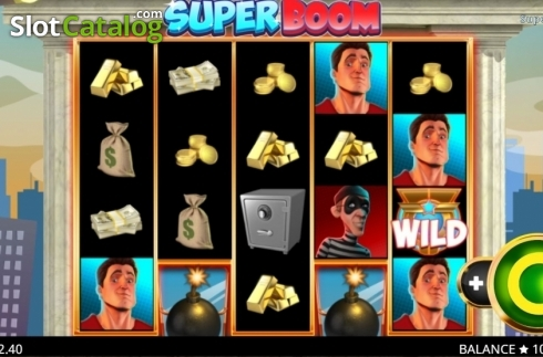 Reel Screen. Super Boom (Video Slot from Booming Games)