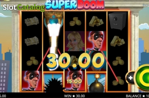 Win Screen. Super Boom (Video Slot from Booming Games)