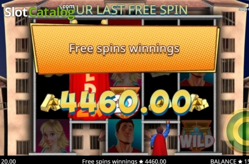 Total Win. Super Boom (Video Slot from Booming Games)