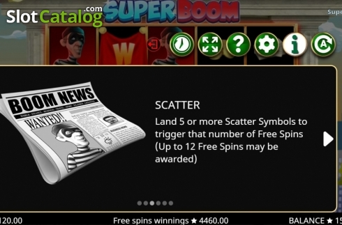 Features 3. Super Boom (Video Slot from Booming Games)